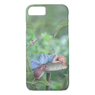 Süße Traum-schlafende Fee u. Maus iPhone 8/7 Hülle
