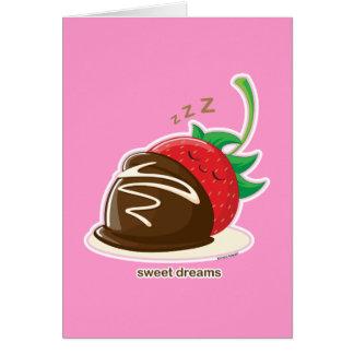 Süße Träume Grußkarte