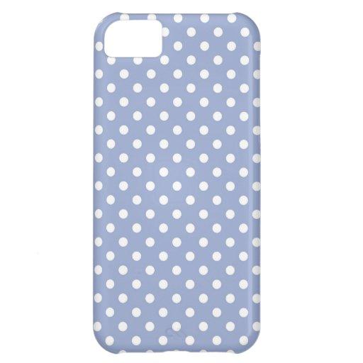 Süße Tupfen auf blauem Hintergrund iPhone 5C Cover