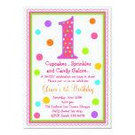 Süße Überraschungs-1. Geburtstags-Einladung 12,7 X 17,8 Cm Einladungskarte