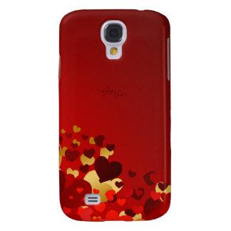 süße Valentinstagherzen mit personalisiertem Namen Galaxy S4 Hülle