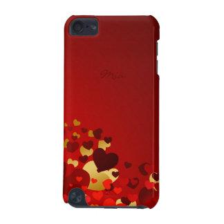 süße Valentinstagherzen mit personalisiertem Namen iPod Touch 5G Hülle