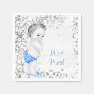 Süße Vintage Dusche Prinz-Baby Serviette