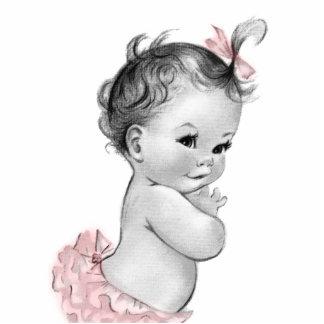 Süße Vintage rosa Baby-Mädchen-Dusche Photoskulptur