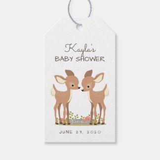 Süße Waldrotwild-Zwillings-Baby-Bevorzugung Geschenkanhänger