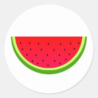 Süße Wassermelone Runder Aufkleber