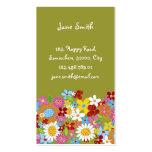 Süße wunderliche Frühlings-Blumen-bunter Garten Visitenkartenvorlage