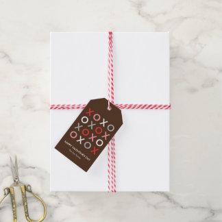 Süße XOXO Valentinstag-Geschenk-Umbauten Geschenkanhänger