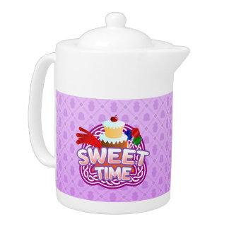 Süße Zeit-lila Teekanne