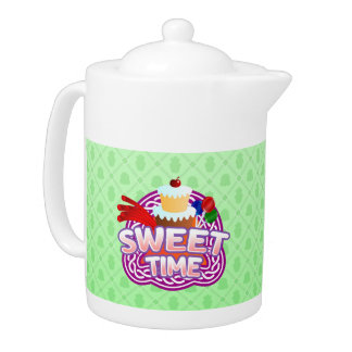 Süße Zeitgrün Teekanne
