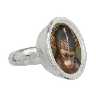süßer Babyaffe Ringe