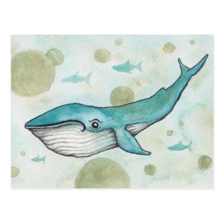 Süßer Blauwal Postkarte