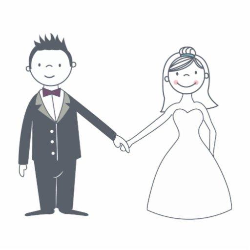 Süßer Braut-u. Bräutigam-Kuchen-Deckel Fotofigur