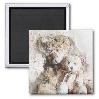 Süßer Brown-Teddybär-Magnet Quadratischer Magnet