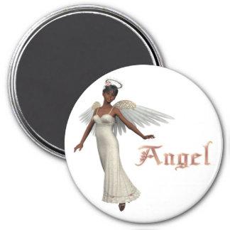 Süßer Engel KRW - Afroamerikaner Runder Magnet 7,6 Cm