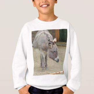 Süßer Esel, Tiergrau, Pferdefamilie Sweatshirt