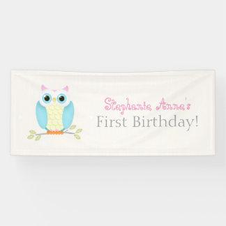 Süßer Eulen-Geburtstag Banner