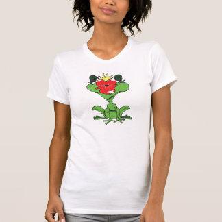 süßer Frosch mit Krone und Kussmund Hemd