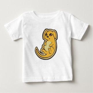 Süßer gelber und roter Welpen-Hund, der Entwurf Baby T-shirt