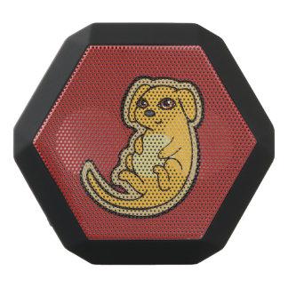 Süßer gelber und roter Welpen-Hund, der Entwurf Schwarze Bluetooth Lautsprecher