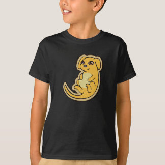 Süßer gelber und roter Welpen-Hund, der Entwurf T-Shirt