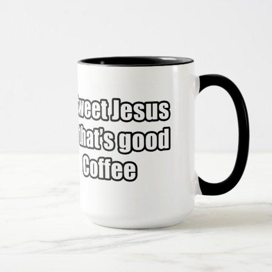 s er jesus der guter kaffee ist tasse zazzle. Black Bedroom Furniture Sets. Home Design Ideas