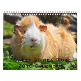 Süßer Kalender der Meerschweinchen-2016