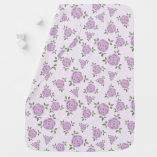 Süßer Lavendel-Blumenmuster Babydecke