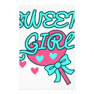 süßer Mädchenentwurf Briefpapier
