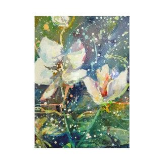 Süßer Magnolien-Aquarelldruck Leinwanddruck