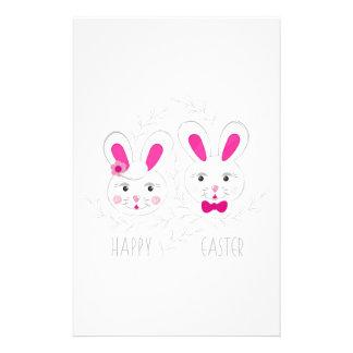 Süßer männlich-weiblicher Kaninchenwunsch Sie Briefpapier