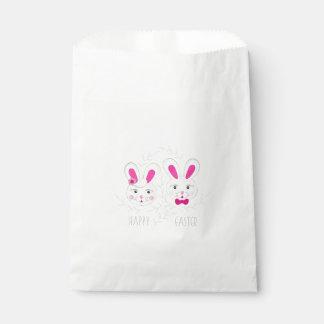 Süßer männlich-weiblicher Kaninchenwunsch Sie Geschenktütchen