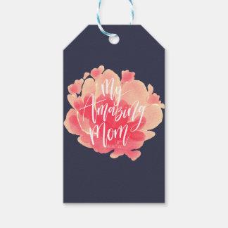 Süßer rosa Blumenwatercolor meine fantastische Geschenkanhänger