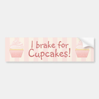 Süßer rosa eleganter kleiner Kuchen Autoaufkleber