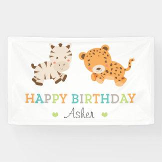 Süßer Safari-Geburtstag Banner