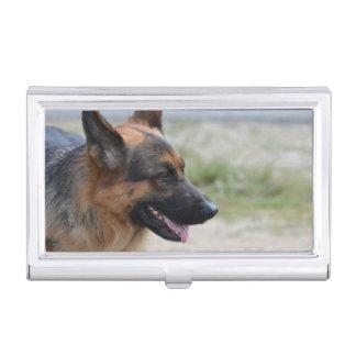 Süßer Schäferhund-Hund Visitenkarten-Schatullen