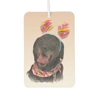 Süßer schwarzer Labrador Lufterfrischer