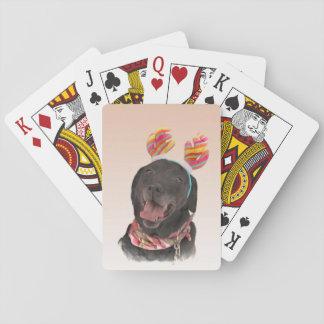 Süßer schwarzer Labrador Spielkarten