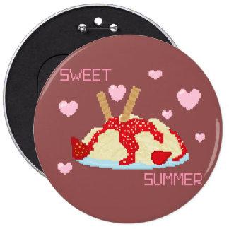 Süßer Sommer-Eiscremeknopf Runder Button 15,3 Cm