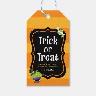 Süßer Trick-oder Leckerei-Halloween-Geschenk-Umbau Geschenkanhänger