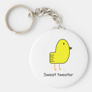 Süßer Tweeter Standard Runder Schlüsselanhänger