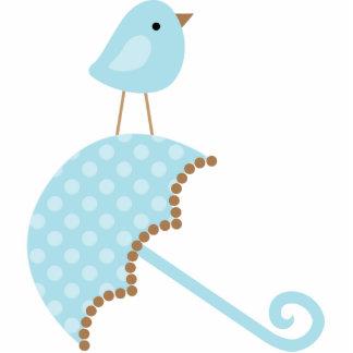 Süßer Vogel-Babyparty-Kuchen-Deckel Freistehende Fotoskulptur