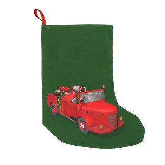 Süßer Weihnachtsmann im Feuer-Motor Kleiner Weihnachtsstrumpf