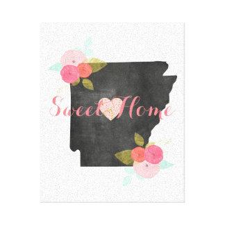 Süßer Zuhause-Arkansas-Staats-Blumen- u. Leinwanddruck