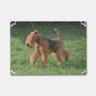Süßes Airdale Terrier Post-it Klebezettel