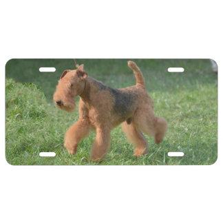 Süßes Airdale Terrier US Nummernschild