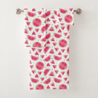 Süßes Aquarell-Wassermelone-Muster Badhandtuch Set