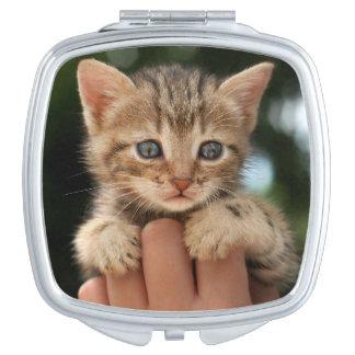 Süßes Baby-Kätzchen Schminkspiegel