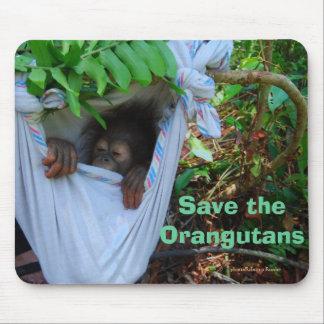 Süßes Baby-Orang-Utan Schlafen Mousepad
