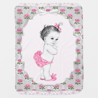 Süßes Baby-Rosa-Rosen-Rosa-Baby Puckdecke